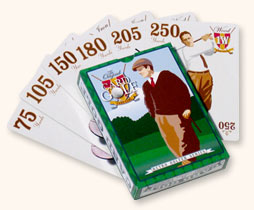 Deck of the golf card game Card Golf